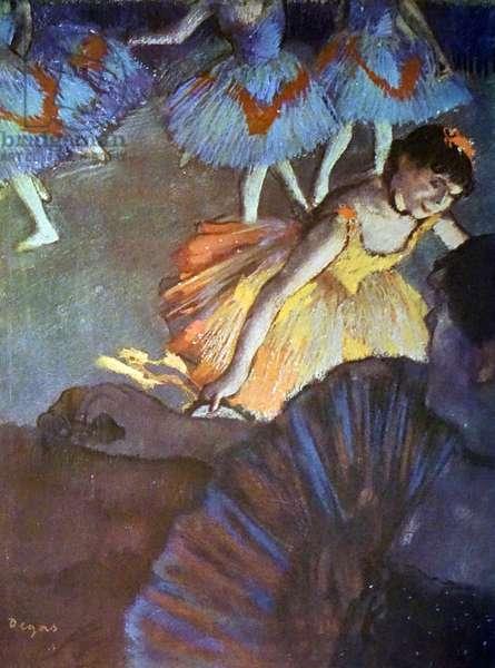 Painting titled 'A Ballet Seen from an Opera Box' by Edgar Degas