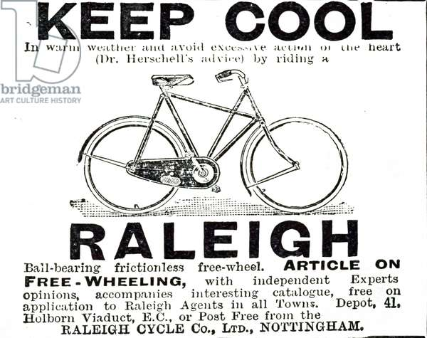 An advertisement for Raleigh Cycles, 20th century