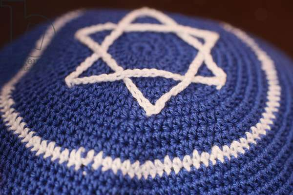 Jewish kippah with star of David (photo)