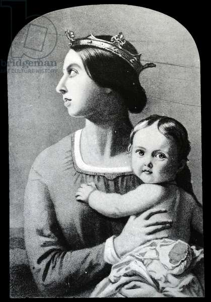Queen Victoria with Prince Edward VII, 1842
