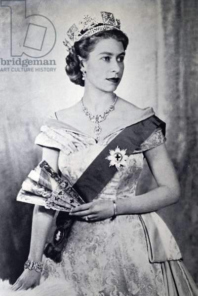 Queen Elizabeth II after her coronation, 1953