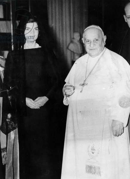 Rome March 11, 1962 Pope John XXIII receives in audience Jacqueline Kennedy