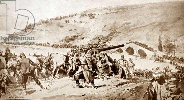 Serbian artillery, 1915
