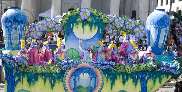 Mardi Gras Parade, New Orleans, Louisiana, a few months after Hurricane Katrina 2006 (photo)