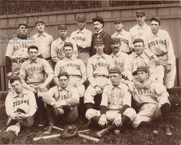 Pittsburgh National League Baseball Team 1896 (photo)