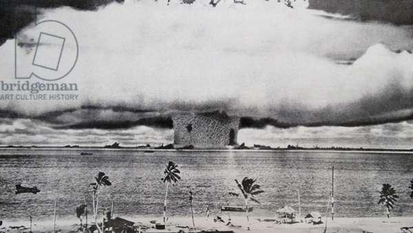 An atomic bomb at Bikini Atoll in Micronesia