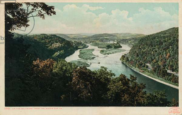 Up the Delaware From the Water Gap, PA