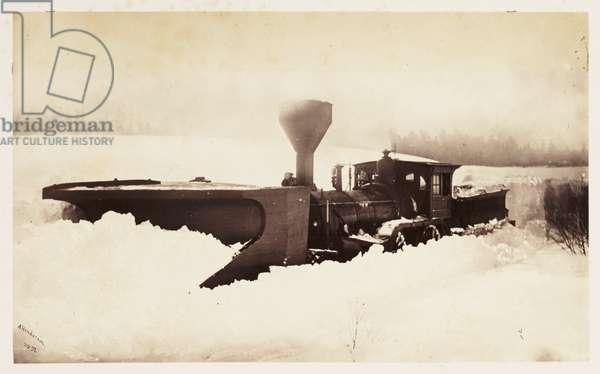Trains snowed up', 1860