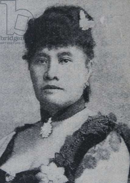 Lili?uokalani queen regnant of the Kingdom of Hawaii.  1891-1897