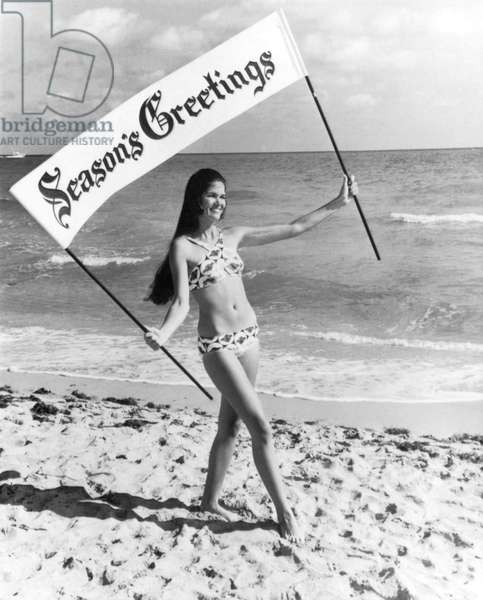 Miami Beach Season's Greetings (b/w photo)