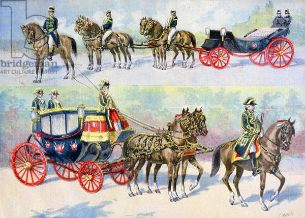 French state carriages prepared for the visit of Tsar Nicholas II, 1896