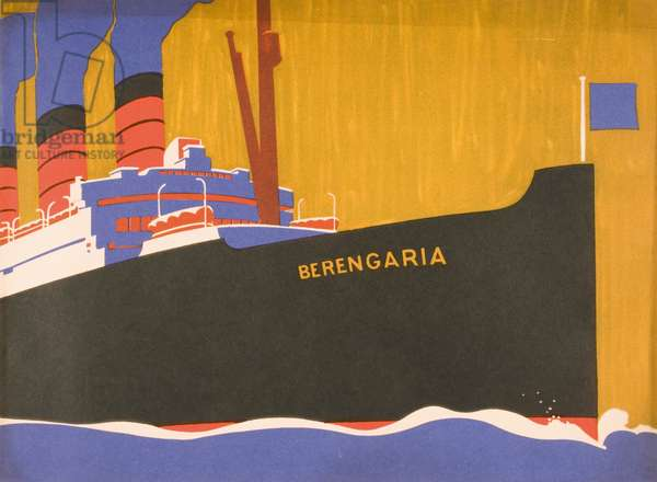 """Cunard Line promotional brochure for """"Berengaria"""", c.1930 (colour litho)"""