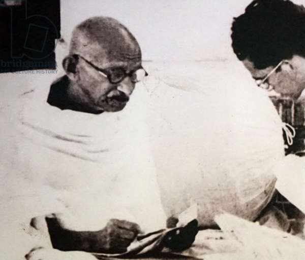 Mahatma Gandhi with Sudhir Ghosh