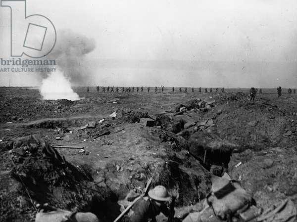 Battle of Ginchy, 1916 (b/w photo)