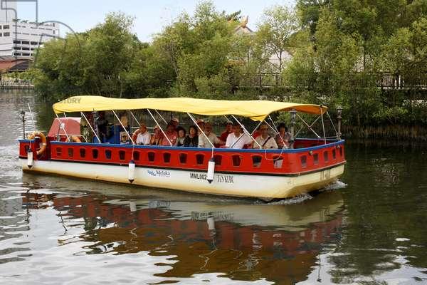 Tourists on Malacca River Boat Ride (photo)