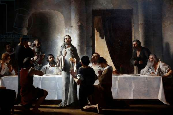 Saint-Francois Xavier church, Depiction of the Apostles Communion by Henry Lerolle (1848-1929) (photo)