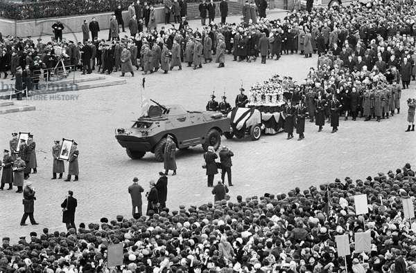 Funeral Of Yuri Gagarin And Vladimir Seryogin At The Red Square