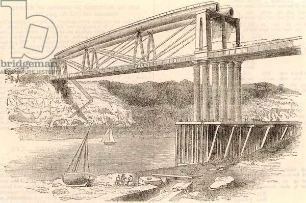 Bridge over the river Wye at Chepstow, ca 1885