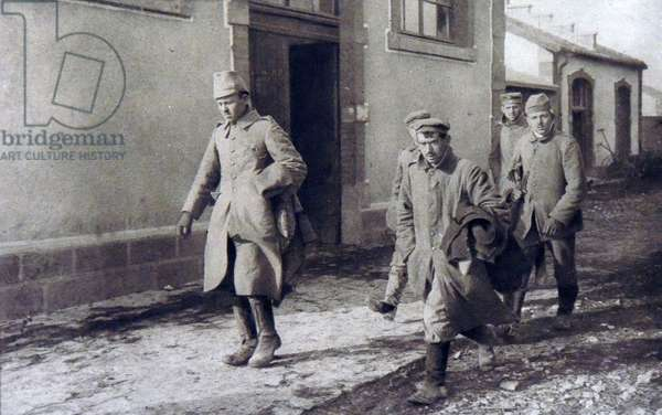 German prisoners of war captured at the fortress of Douaumont