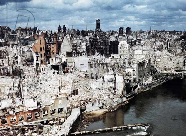 Nuremberg, Germany, at the end of World War Two
