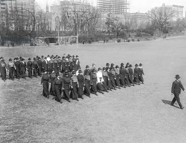 War Nurses Ready To Go, United States, c.1917 (b/w photo)