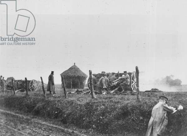 British Front, Belgium, 1914 Battle of Messines, 1914 (b/w photo)