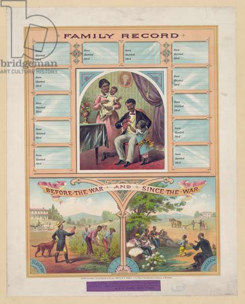 Family record. Before the war and since the American Civil war