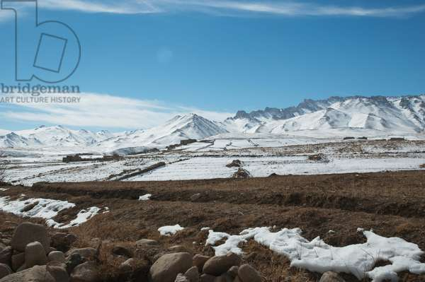 Koh-I-Baba (Grandfather of the Mountains) Range as seen from the Hajigak Pass, Vardak Province, Afghanistan (photo)
