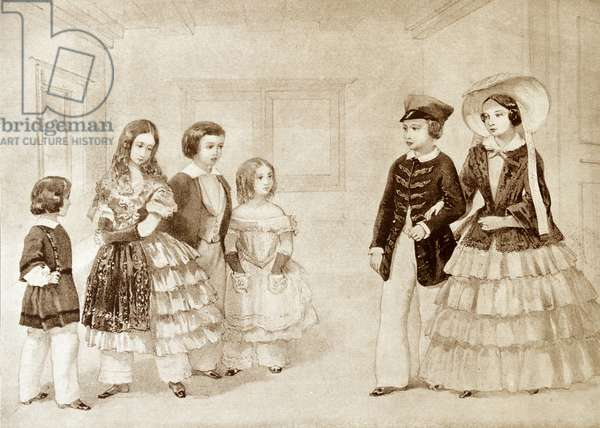 Six of Queen Victoria of Great Britain's children, 1854