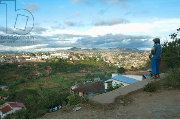 Panorama of Fianarantsoa, Madagascar (photo)