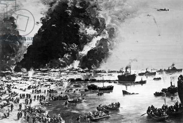 The Evacuation of Dunkirk (b/w photo)