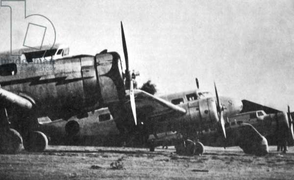 Nationalist aircraft during the Spanish Civil War