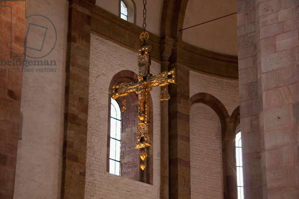 Crucifix Hanging in the Transept of the Speyer Cathedral, (Officially the Imperial Cathedral Basilica of the Assumption and St Stephen), Speyer, Germany (photo)