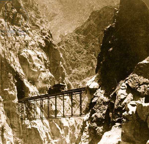 In the heart of the mighty Andes--Oroya Ry. bridge in the sublime Infurnillo gorge, Peru 1908 (photo)