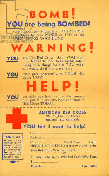 Red Cross War Fund (b/w photo)