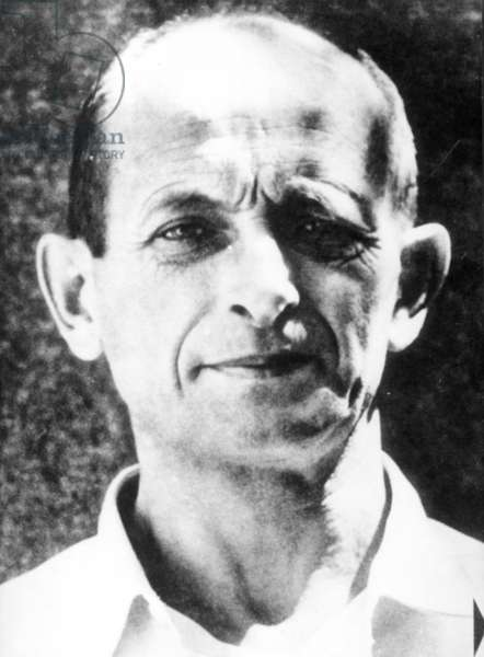 Adolf Eichmann Who Is One Of The Founders Of Gas Chambers And Other Extermination Equipment In Oswiecim (Auschwitz) After Arrest In Israel. World War Ii.