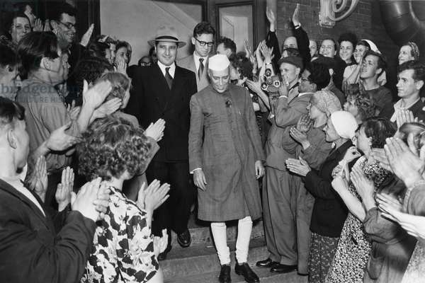 Jawaharlal Nehru Visits Moscow Automobile Plant