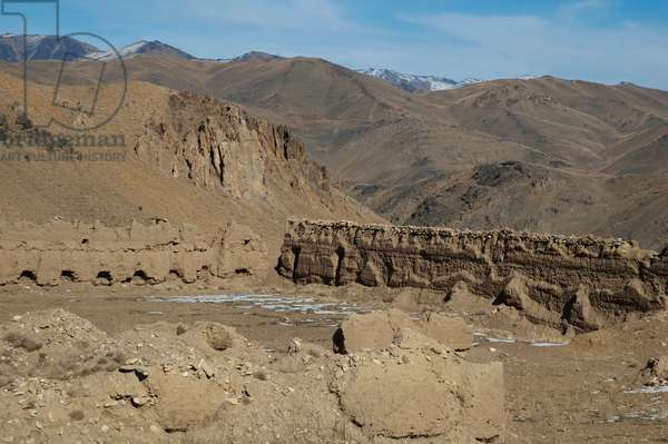 Ruins of A Mud Fort at the Unai Pass, Vardak Province, Afghanistan (photo)
