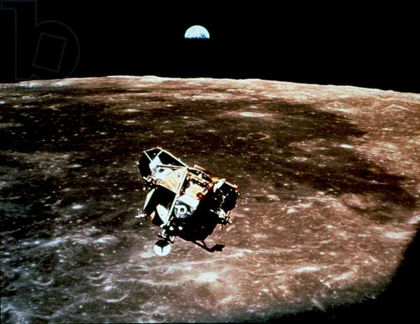 A view of the Apollo 11 lunar module Eagle as it returned from the surface of the moon