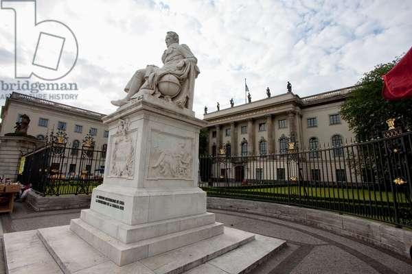 Statue of Alexander Von Humboldt, Berlin, Germany (photo)