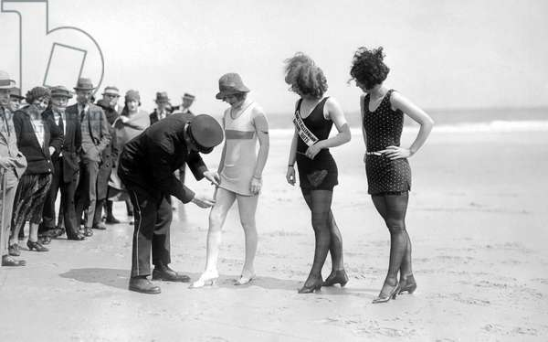 Bathing Suit Fashion Police (b/w photo)