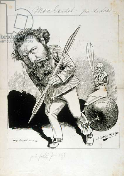 Caricature on censorship in France