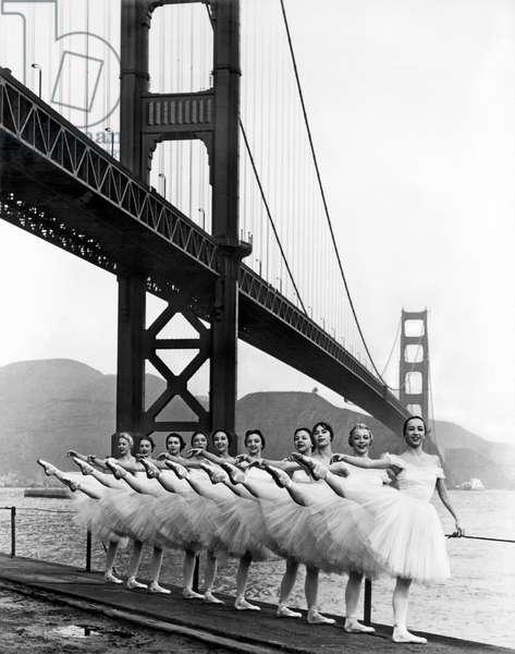 Golden Gate Bridge Ballet (b/w photo)