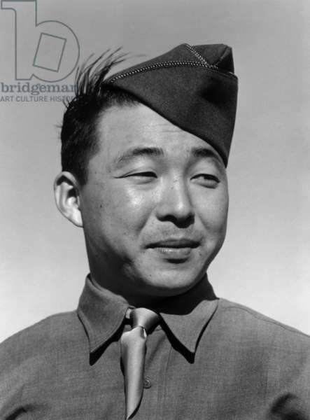 Private Kato, Manzanar Relocation Center, California, 1943 (photo)