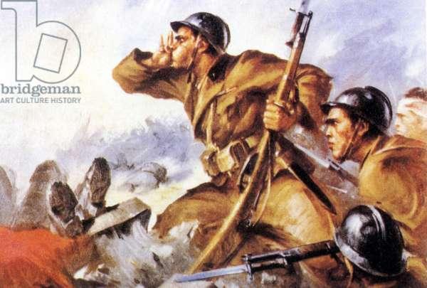 Spanish civil war 1936 1939 Fascism. Italian Legionaries in Spain.