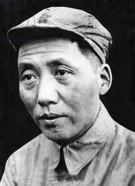 Mao Zedong in Shansi Province, April 22, 1938.