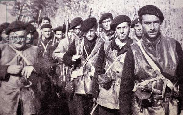 Spanish civil war: soldiers from the International Brigade, (Republican).
