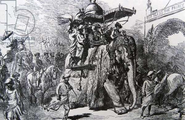 Royal reception in India (Edward VII)