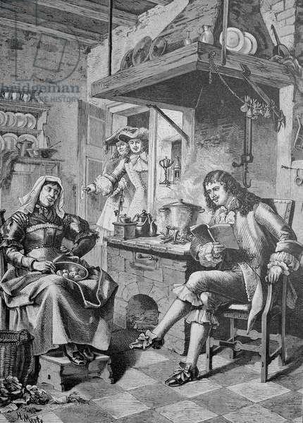 Moliere read to his maid a newly written play