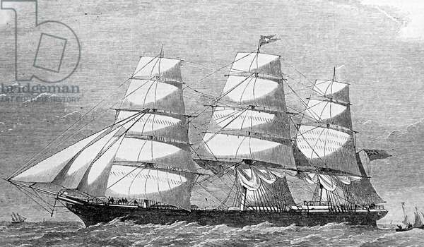 The Clipper 'The Royal Edward' built for the Red Cross Australian Line, 1850